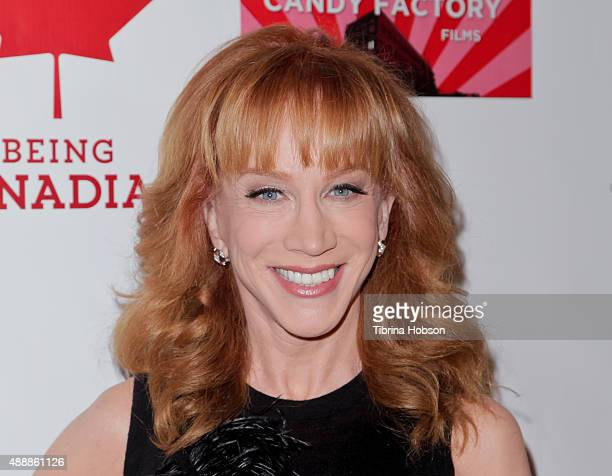 Kathy Griffin attends the premiere of 'Being Canadian' at Crest Westwood on September 17 2015 in Westwood California