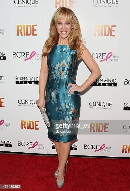 Kathy Griffin attends the 'Ride' Los Angeles premiere on April 28 2015 in Hollywood California