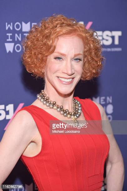 Kathy Griffin attends the screening of Kathy Griffin A Hell Of A Story during the opening night of 51Fest at IFC Center on July 18 2019 in New York...