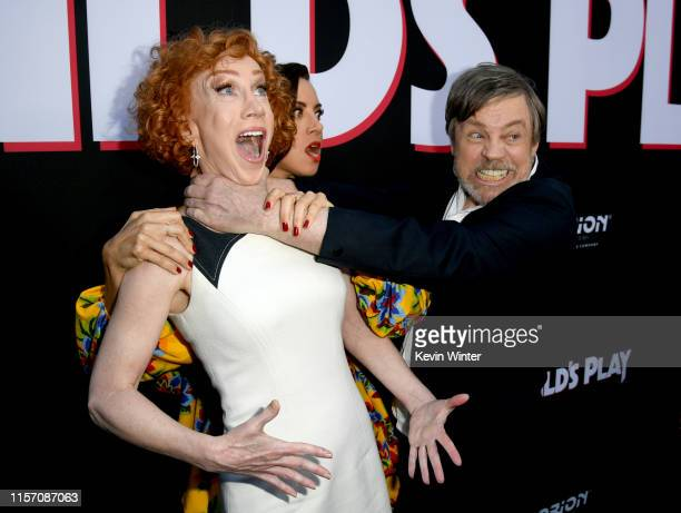 Kathy Griffin Aubrey Plaza and Mark Hamill arrive at the premiere of Orion Pictures and United Artists Releasing Child's Play at ArcLight Hollywood...