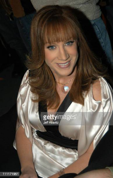 Kathy Griffin during Comedy Central's First Annual 'Commies' Awards Backstage at Sony Studios in Culver City California United States