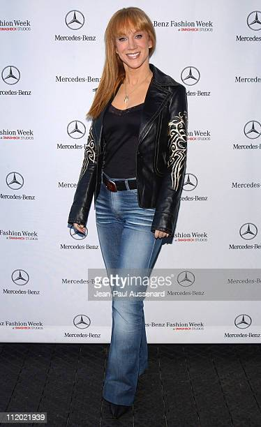 Kathy Griffin during MercedesBenz Spring 2005 Fashion Week at Smashbox Studios Day 5 Arrivals at Smashbox Studios in Culver City California United...