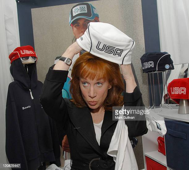 Kathy Griffin during The 48th Annual GRAMMY Awards Distinctive Assets Talent Lounge Day 3 at Staples Center in Los Angeles California United States