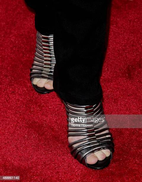 Kathy Griffin fashion detail attends the premiere of 'Being Canadian' at Crest Westwood on September 17 2015 in Westwood California