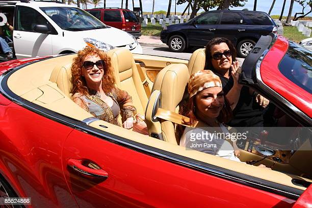 Kathy Griffin Gloria Estefan and Rosie O'Donnell are sighted filming scenes for Life On The D List at Larios on March 19 2009 in Miami Beach Florida
