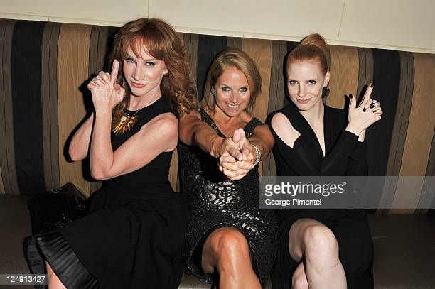 Kathy Griffin Katie Couric and Jessica Chastian attend the HFPA And InStyle 2011 Toronto International Film Festival Party at Windsor Arms Hotel on...