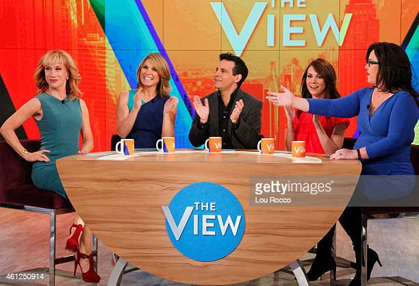 THE VIEW Kathy Griffin Mario Cantone and Tracey Wigfield guest cohost Ethan Hawke Patricia Arquette Ellar Coltrane and Richard Linklater are guests...