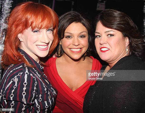 COVERAGE* Kathy Griffin Rachel Ray and Rosie O'Donnell pose backstage at NBC presents Rosie Live variety show at the Little Shubert Theatre on...