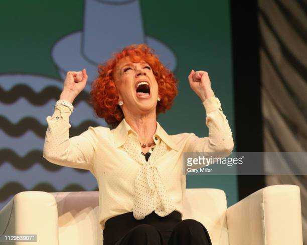 Kathy Griffin speaks onstage at Convergence Keynote Kathy Griffin at the Austin Convention Center during the SXSW Conference And Festival on March 9...