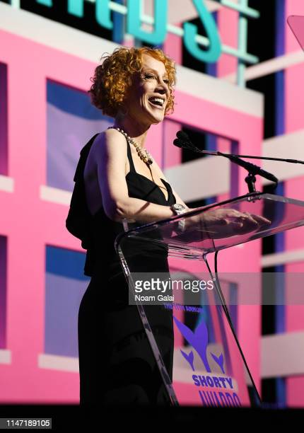 Kathy Griffin speaks onstage during the 11th Annual Shorty Awards on May 05 2019 at PlayStation Theater in New York City