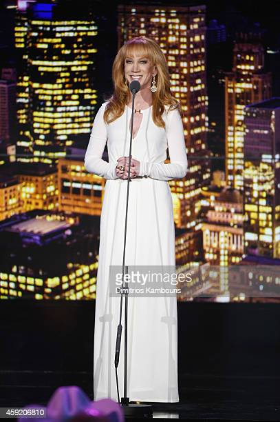 Kathy Griffin speaks onstage during the 2014 CNN Heroes An All Star Tribute at American Museum of Natural History on November 18 2014 in New York...
