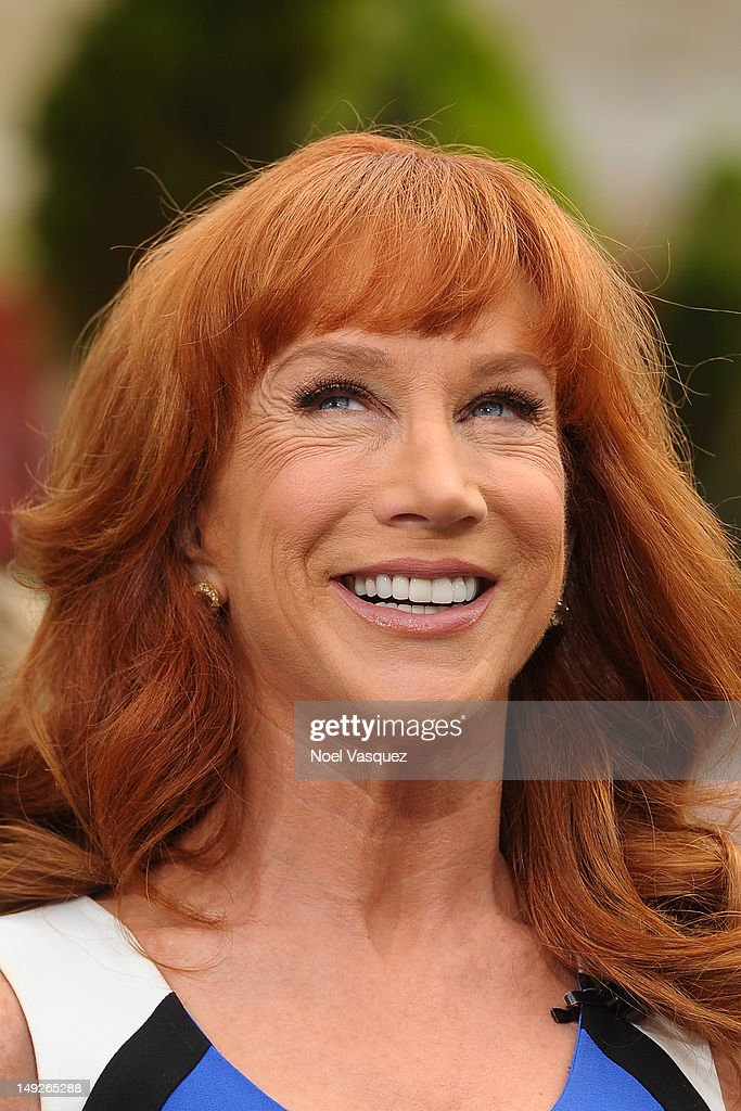 Kathy Griffin visits 'Extra' at The Grove on July 25, 2012 in Los Angeles, California.