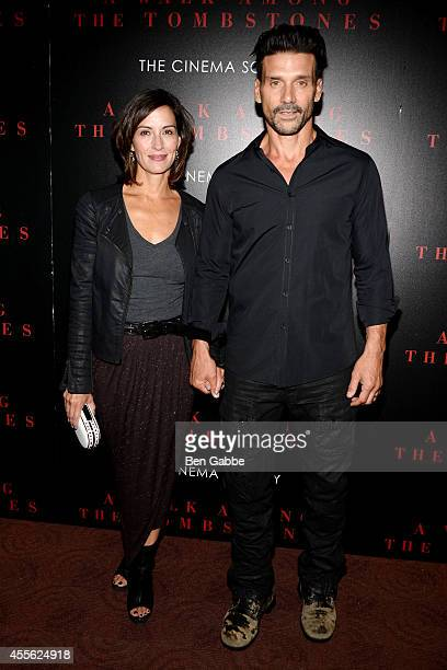 Kathy Grillo and actor Frank Grillo attend the Universal Pictures and Cross Creek Pictures with The Cinema Society screening of A Walk Among the...
