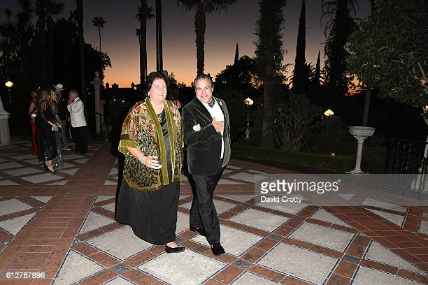 Kathy Hampton and Cary Collins attend Hearst Castle Preservation Foundation Annual Benefit Weekend Legends of the Silver Screen Costume Gala at...