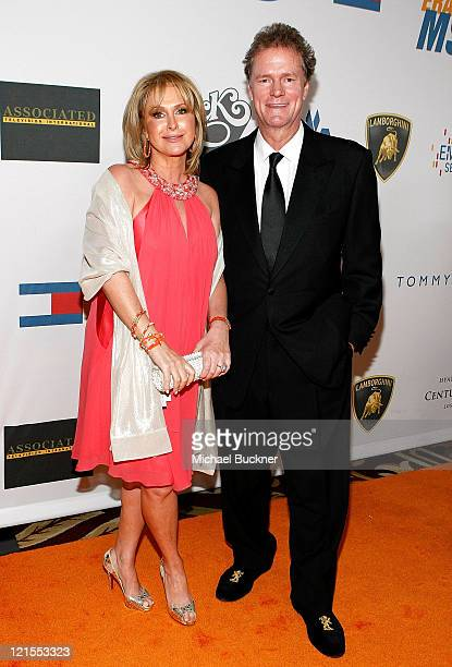 Kathy Hilton and husband Rick Hilton arrive at the 16th Annual Race to Erase MS event cochaired by Nancy Davis and Tommy Hilfiger at Hyatt Regency...