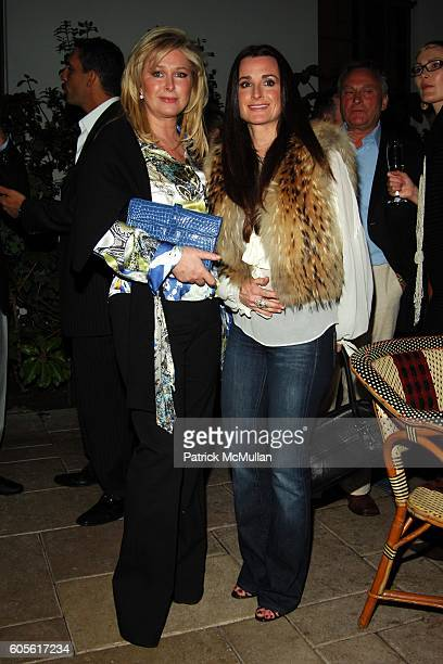 Kathy Hilton and Kyle Richards attend ETRO and Perrier Jouet Celebrate The Launch of Patrick McMullan's Book KISS KISS at Chateau Marmont on February...
