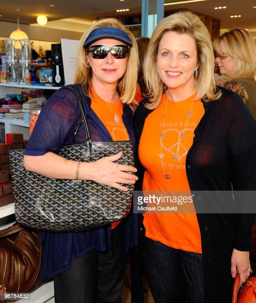 Kathy Hilton and Nancy Davis attend the Race To Erase MS fundraiser held at Kitson on Melrose to kick off May as multiple sclerosis awareness month...
