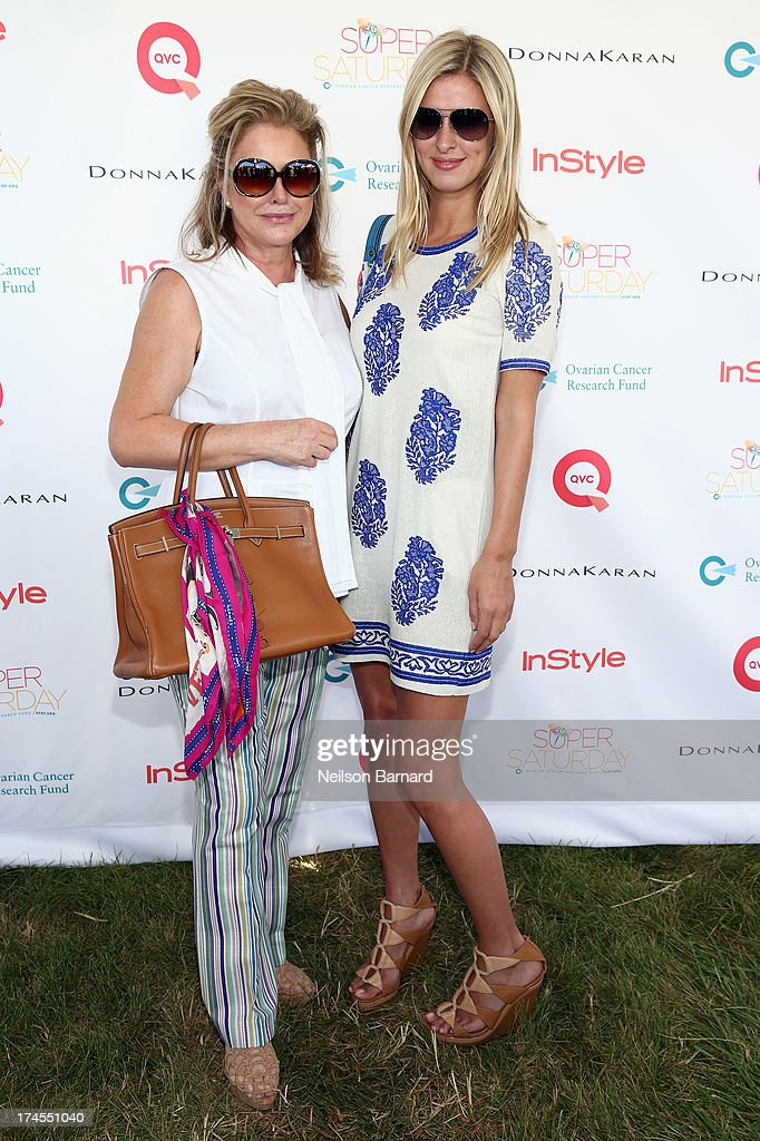 Kathy Hilton (L) and Nicky Hilton attend QVC Presents Super Saturday LIVE! at Nova's Ark Project on July 27, 2013 in Water Mill, New York.