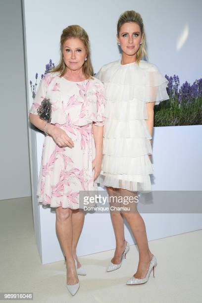 Kathy Hilton and Nicky Hilton attend the Giambattista Valli Haute Couture Fall Winter 2018/2019 show as part of Paris Fashion Week on July 2 2018 in...