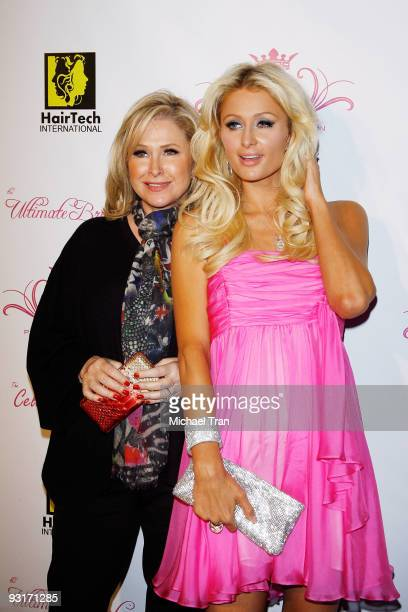 Kathy Hilton and Paris Hilton arrive to the launch party for Paris Hilton's new hair and beauty line held at the Thompson Hotel on November 17, 2009...