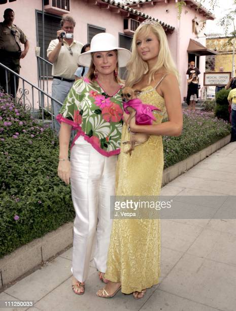 Kathy Hilton and Paris Hilton during 2005 West Hollywood Gay Pride Parade in West Hollywood California United States