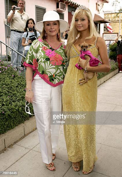 Kathy Hilton and Paris Hilton in West Hollywood California