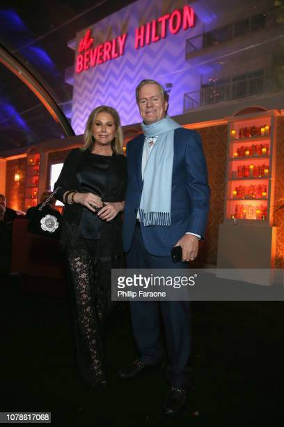 Kathy Hilton and Richard Hilton attend the FOX FX And Hulu 2019 Golden Globe Awards After Party at The Beverly Hilton Hotel on January 6 2019 in...