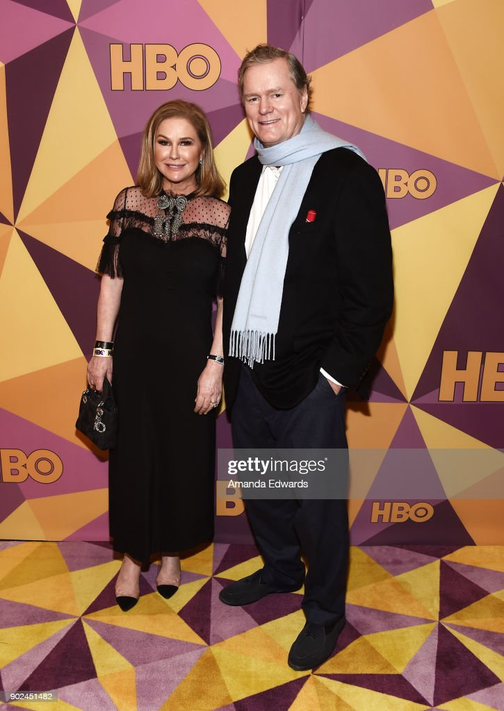 Kathy Hilton (L) and Rick Hilton arrive at HBO's Official Golden Globe Awards After Party at Circa 55 Restaurant on January 7, 2018 in Los Angeles, California.