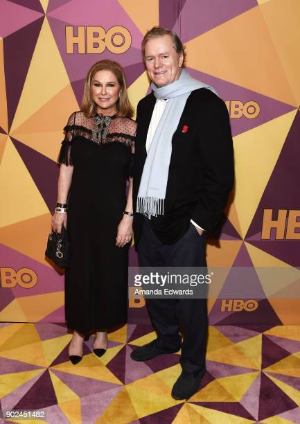 Kathy Hilton and Rick Hilton arrive at HBO's Official Golden Globe Awards After Party at Circa 55 Restaurant on January 7 2018 in Los Angeles...