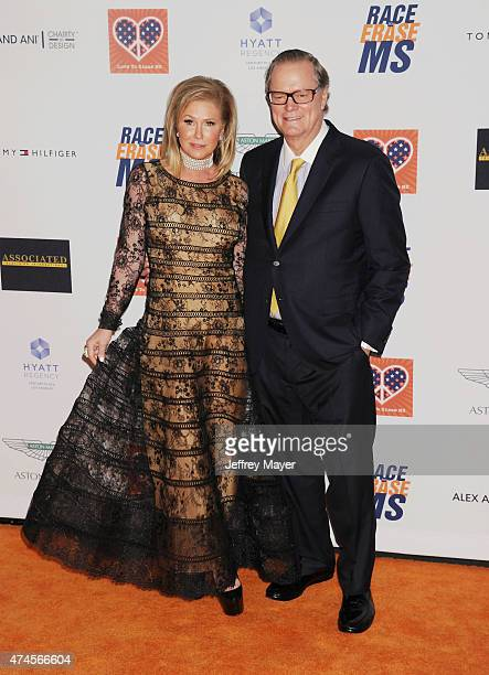 Kathy Hilton and Rick Hilton arrive at the 22nd Annual Race To Erase MS at the Hyatt Regency Century Plaza on April 24 2015 in Century City California
