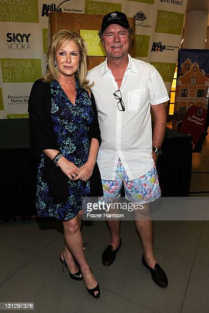 Kathy Hilton and Rick Hilton attend ARUBA IN STYLE 2011 Fashion Cocktails Fashion's Night Out at Renaissance Mall on November 3 2011 in Oranjestad...