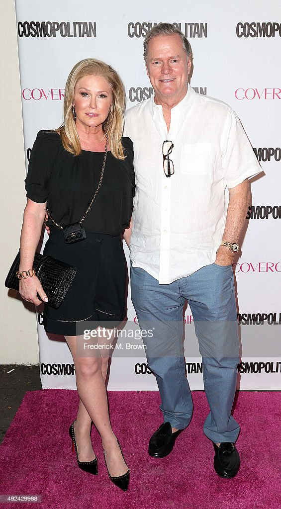 Kathy Hilton (L) and Rick Hilton attend Cosmopolitan's 50th Birthday Celebration at Ysabel on October 12, 2015 in West Hollywood, California.