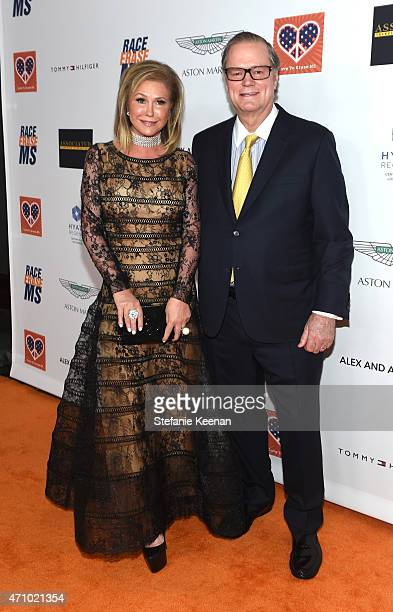 Kathy Hilton and Rick Hilton attend the 22nd Annual Race To Erase MS Event at the Hyatt Regency Century Plaza on April 24 2015 in Century City...