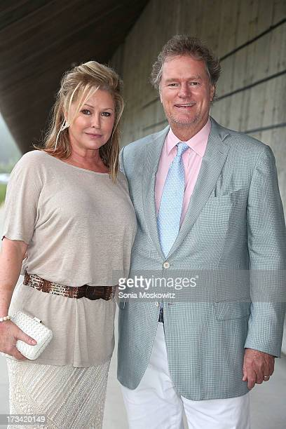 Kathy Hilton and Rick Hilton attend the Parrish Art Museum 2013 Midsummer Party on July 13 2013 in Southampton United States