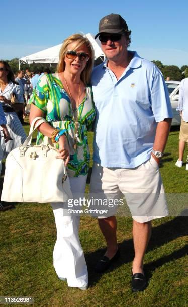 Kathy Hilton and Rick Hilton during Jessica Biel and The Island Villas at Molasses Reef host the MercedesBenz Polo Challenge at Bridgehampton Polo...