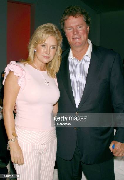 Kathy Hilton and Rick Hilton during MercedesBenz Fashion Week Spring 2004 Alvin Valley Front Row and Backstage at Bryant Park in New York City New...