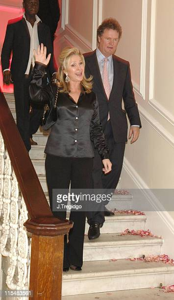 Kathy Hilton and Rick Hilton during Paris Hilton Fragrance Launch London Party Inside at Il Bottaccio in London Great Britain