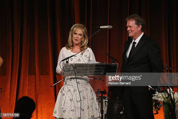 Kathy Hilton and Rick Hilton speak at the European School Of Economics Foundation Vision And Reality Awards on December 5 2012 in New York City