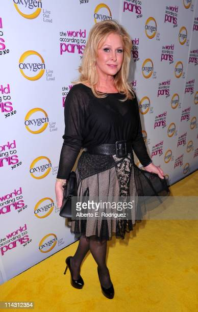 Kathy Hilton arrives at premiere of Oxygen's New DocuSeries The World According To Paris at Tropicana Bar at The Hollywood Roosevelt on May 17 2011...
