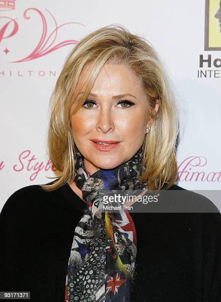 Kathy Hilton arrives to the launch party for Paris Hilton's new hair and beauty line held at the Thompson Hotel on November 17, 2009 in Beverly...