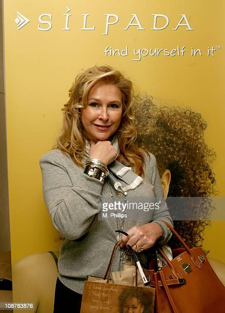 Kathy Hilton at Silpada Designs during Silpada Designs at 2007 Silver Spoon Golden Globes Suite Day 2 in Los Angeles California United States