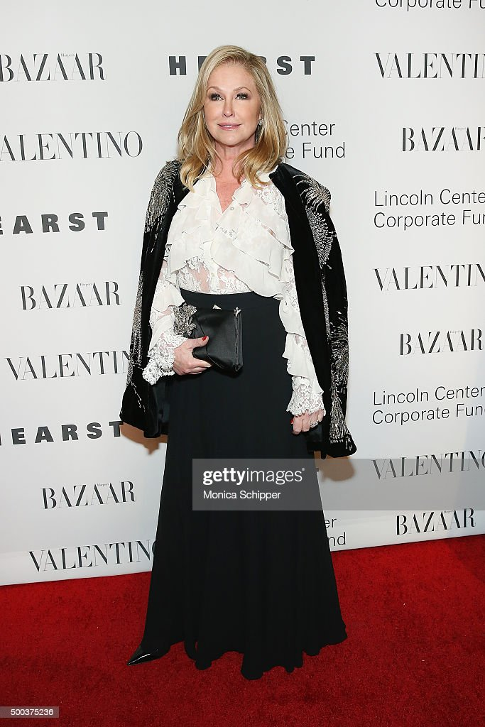 Kathy Hilton attends 'An Evening Honoring Valentino' Lincoln Center Corporate Fund Gala - Inside Arrivals at Alice Tully Hall at Lincoln Center on December 7, 2015 in New York City.