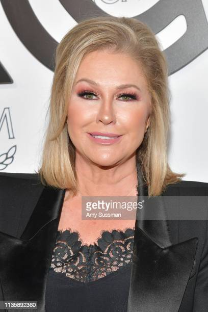 Kathy Hilton attends MCM Global Flagship Store Grand Opening On Rodeo Drive at MCM Global Flagship Store on March 14, 2019 in Beverly Hills,...