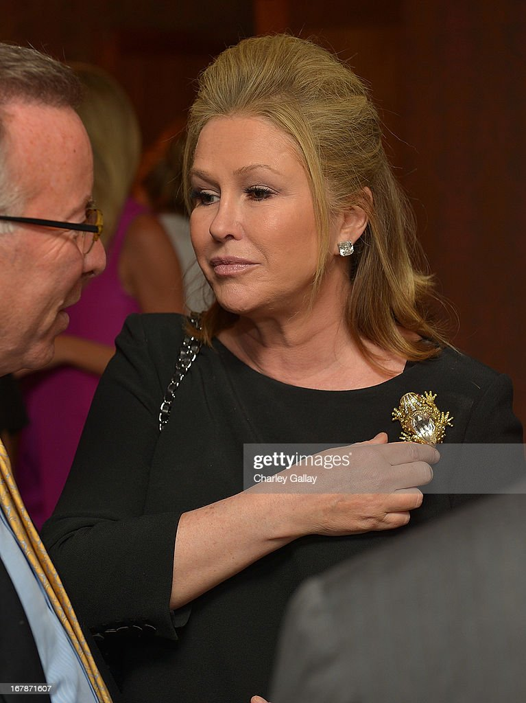 Kathy Hilton attends the David Webb Dinner in honor of LAXART at Sunset Tower on May 1, 2013 in West Hollywood, California.