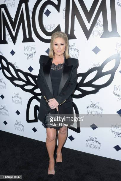 Kathy Hilton attends the MCM Rodeo Drive Store Grand Opening Event at MCM Rodeo Drive on March 14 2019 in Beverly Hills California
