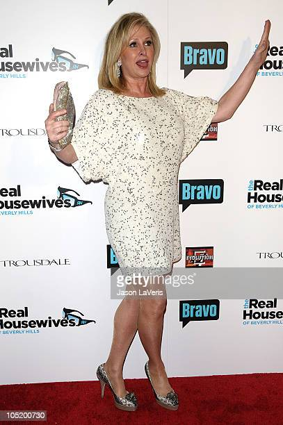 """Kathy Hilton attends """"The Real Housewives of Beverly Hills"""" series premiere party at Trousdale on October 11, 2010 in West Hollywood, California."""