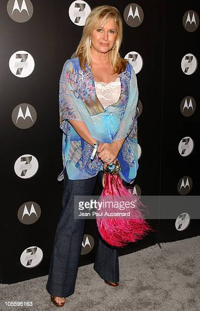 Kathy Hilton during Motorola's Seventh Anniversary Party to Benefit Toys for Tots Arrivals at American Legion Hall in Los Angeles California United...