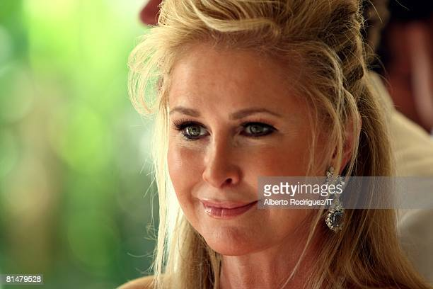 RATES Kathy Hilton during the wedding of Ivana Trump and Rossano Rubicondi at the MaraLago Club on April 12 2008 in Palm Beach Florida
