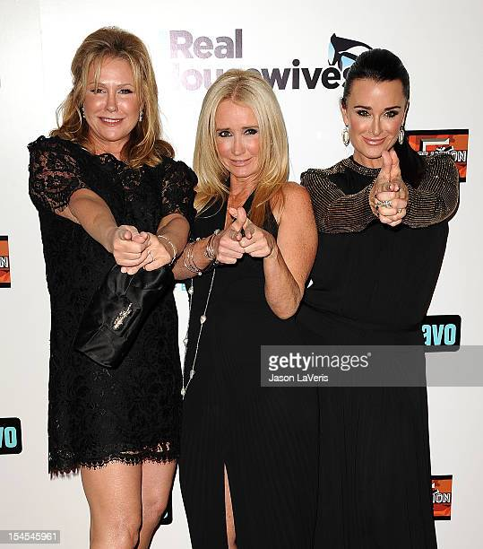 Kathy Hilton Kim Richards and Kyle Richards attend the Real Housewives of Beverly Hills Season 3 premiere party at Hollywood Roosevelt Hotel on...