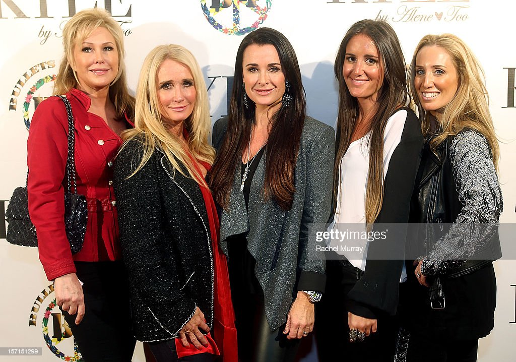 Kathy Hilton, Kyle Richards, Alene Too founders Kyle Richards, Lizzy Schwartz, and Debbie Weisman attend Kyle By Alene Too holiday shopping event featuring Bullets For Peace benefiting Safe Passage Charity on November 28, 2012 in Beverly Hills, California.